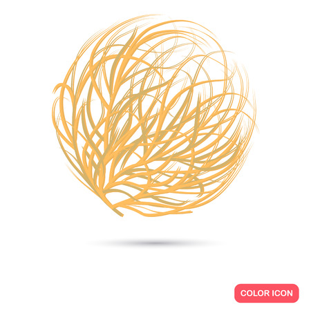 Tumbleweed color flat icon for web and mobile design