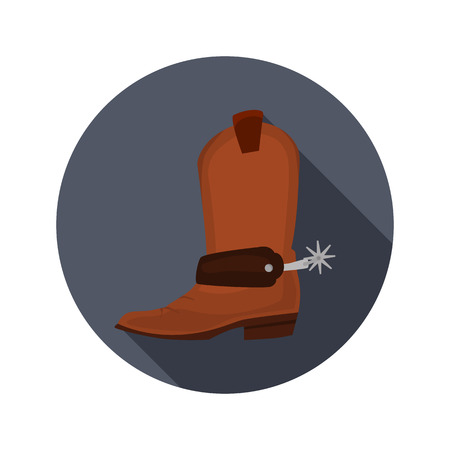 Cowboy shoes color flat icon for web and mobile design Vetores