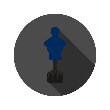 driving range: Mannequin driving range color flat icon for web and mobile design Illustration