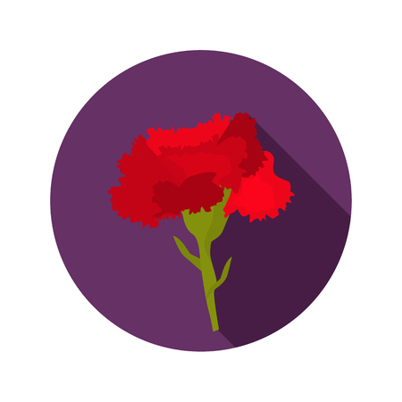 Carnation color flat icon for web and mobile design Çizim
