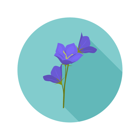 Bluebell color flat icon for web and mobile design