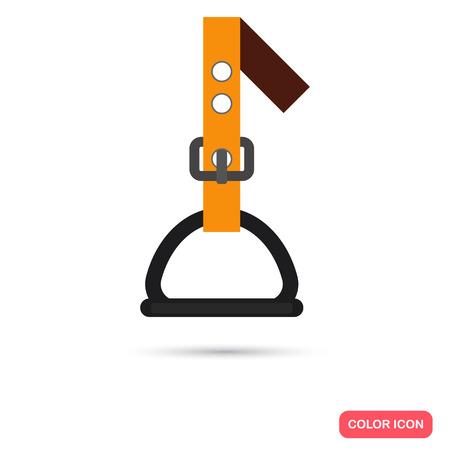 stirrup: Stirrup color flat icon for web and mobile design Illustration