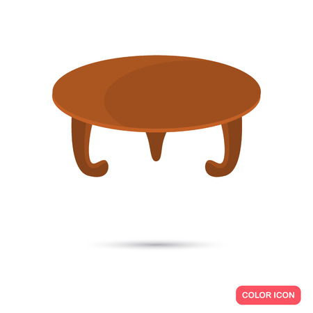 Coffee table color flat icon for web and mobile design