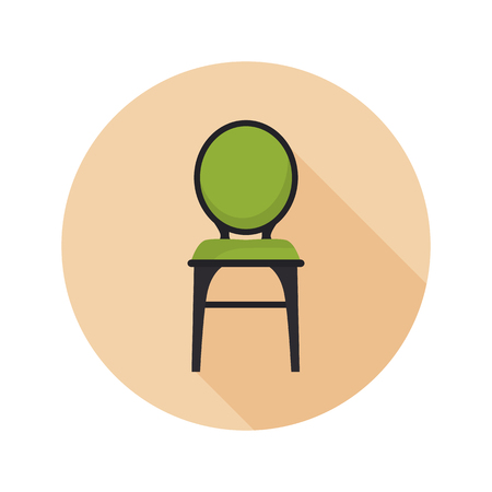 Chair color flat icon for web and mobile design