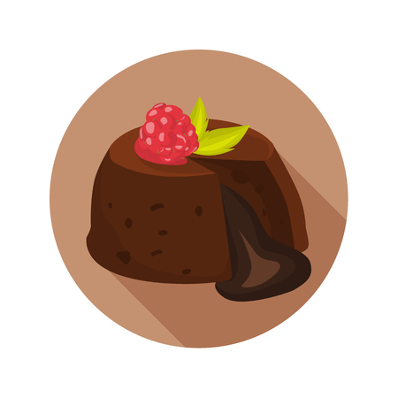 Chocolate fondant color flat icon for web and mobile design