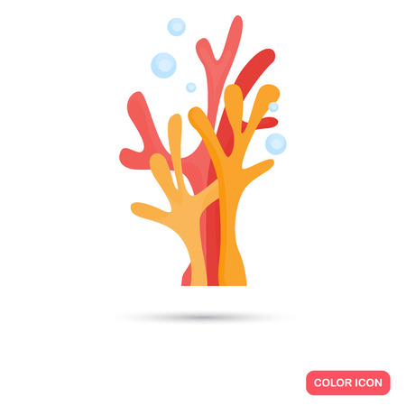 Corals color flat icon for web and mobile design