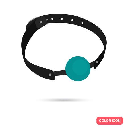 Gag per l'icona piatta a colori della bocca per il web e il design mobile.