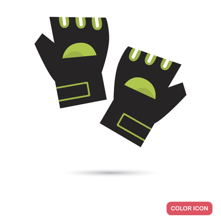 Training gloves color flat icon for web and mobile design
