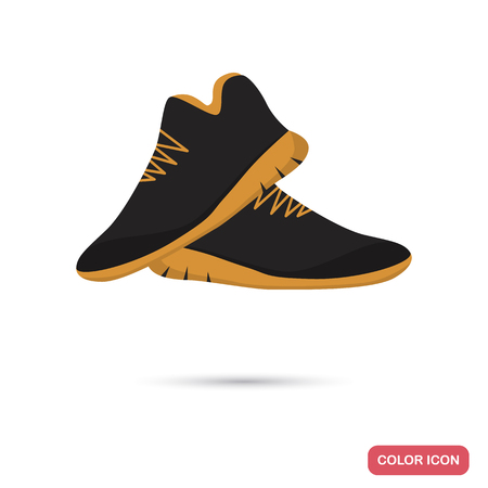 lacing: Sneakers for running color flat icon for web and mobile design Illustration
