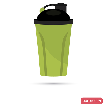 Sports bottle color flat icon for web and mobile design