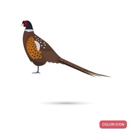 Icône plate couleur couleur faisan pour design web et mobile Banque d'images - 77016422