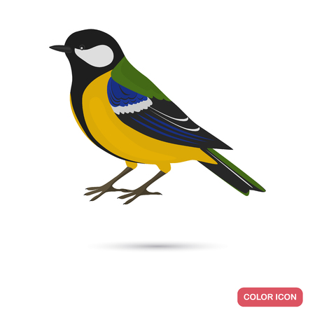 Tit color flat icon for web and mobile design