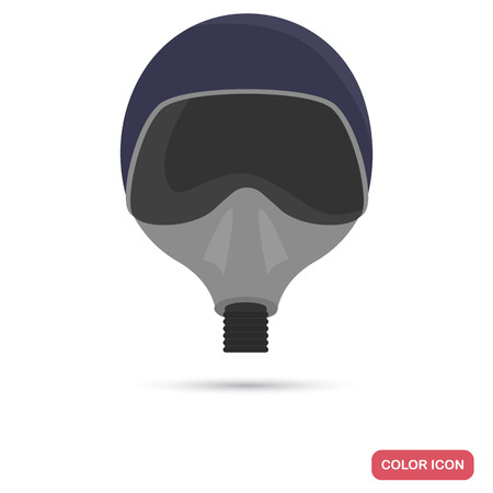 Fighter pilot mask color flat icon for web and mobile design Иллюстрация