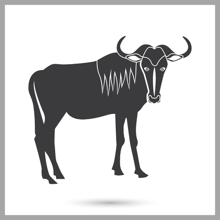 Wildebeest simple icon for web and mobile design