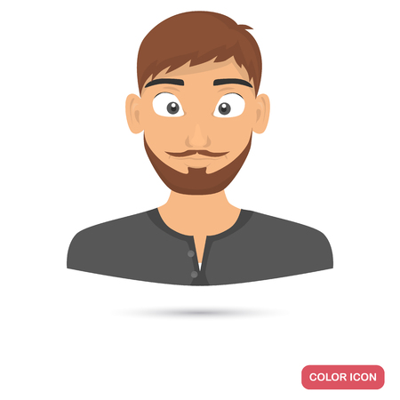 Men avatar icon in cartoon style for web and mobile design Иллюстрация