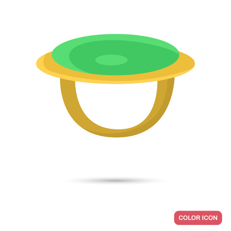 Golden ring color icon for web and mobile design Illustration