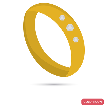 Wedding ring color icon for web and mobile design Illustration