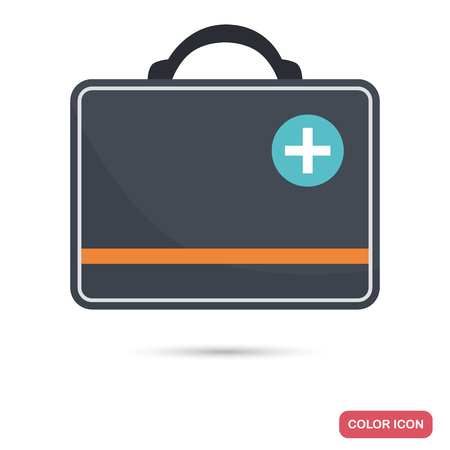 Chest of first aid color flat icon for web and mobile design