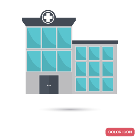 Hospital color flat icon for web and mobile design Stock Vector - 79015571