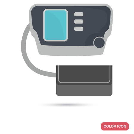 Electronic tonometer color flat icon for web and mobile design Illustration