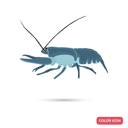 Lobster color flat icon for web and mobile design