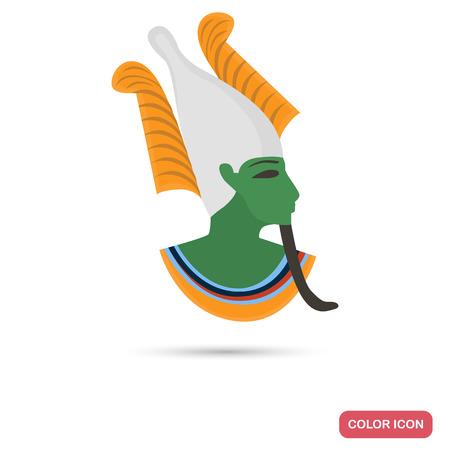 Osiris god color flat icon for web and mobile design Ilustração