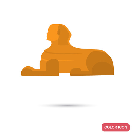 Egypt Sphinx color flat icon for web and mobile design Illustration