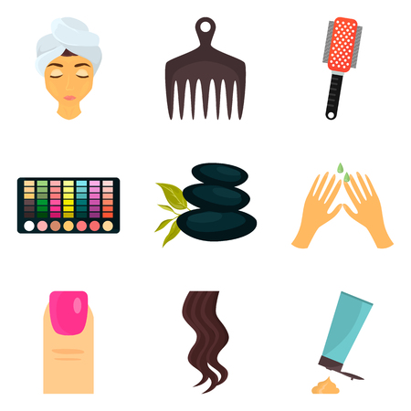 Woman beauty care color icons set for web and mobile design Stock fotó - 80834082