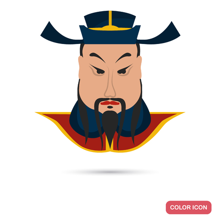 Chinese emperor color flat icon for web and mobile design