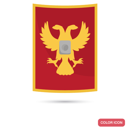 Ancient Rome shield color flat icon for web and mobile design