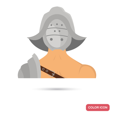 Gladiator color flat icon for web and mobile design