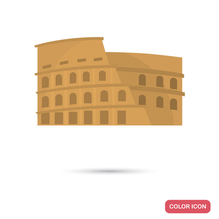 Coliseum color flat icon for web and mobile design Stock Vector - 81692291