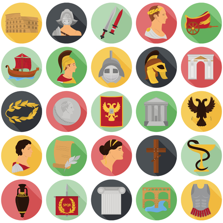 Ancient rome color icons srt for web and mobile design Stock fotó - 81692293