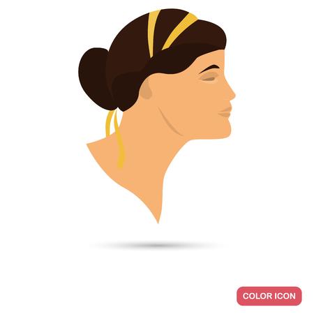 L'icône plate des couleurs de la femme romantique pour le design web et mobile Banque d'images - 81692294