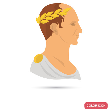 Rome emperor color flat icon for web and mobile design Иллюстрация