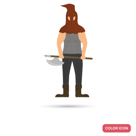 The court executioner color flat icon for web and mobile design