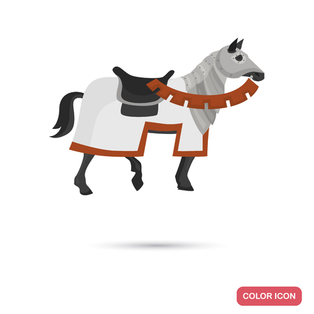 Knight horse color flat icon for web and mobile design
