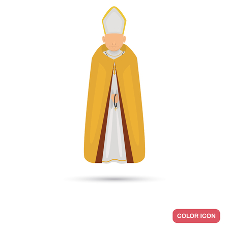 Court priest color flat icon for web and mobile design