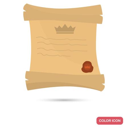 Icona piatta colore Royal decreto per il web design e mobile Archivio Fotografico - 82151230