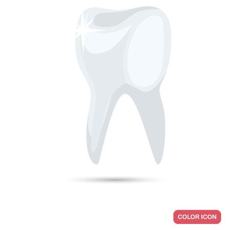웹 및 모바일 디자인을위한 건강한 치아 컬러 평면 아이콘