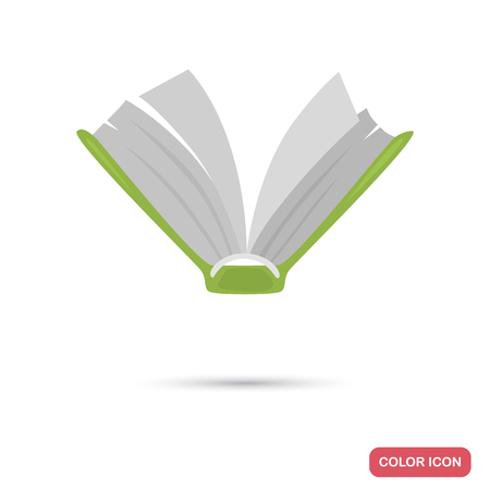 Open book color flat icon for web and mobile design