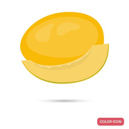 flesh colour: Melon color flat icon for web and mobile design Illustration