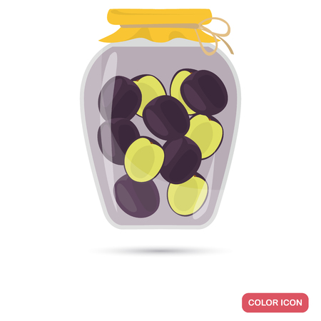 Preserved plums color icon for web and mobile design