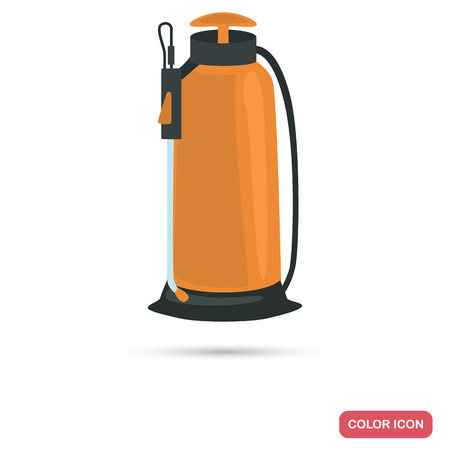 Agriculture sprayer color flat icon for web and moible design