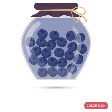 Preserved blueberry color icon for web and mobile design Illustration