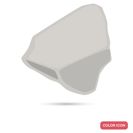 A piece of chalk color flat icon for web and mobile design