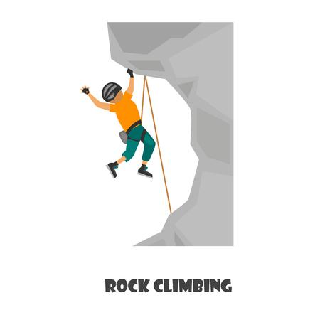 Illustrarion del color de la escalada aislado en blanco Foto de archivo - 85023023