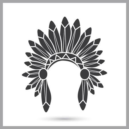 Indios headwear icono simple Ilustración de vector