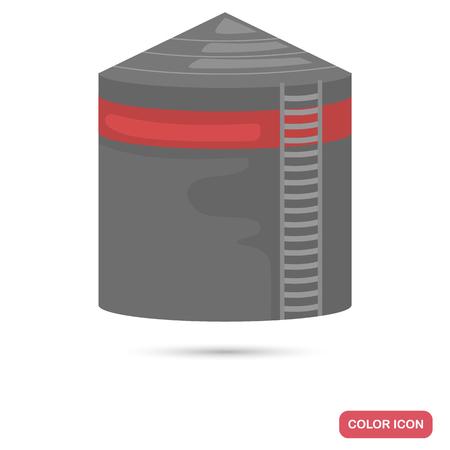 Oil storage color flat icon