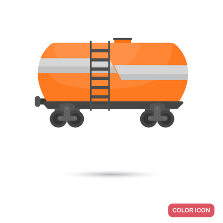 Transportation wagon for oil color icon